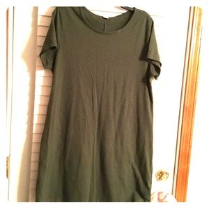 Old navy olive green T-shirt dress